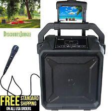 Milanix Tailgate Portable Bluetooth PA Karaoke Speaker with Microphone USB-NEW-