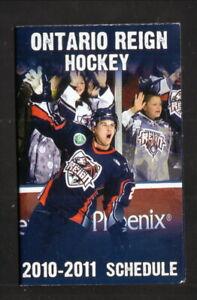 Ontario Reign--2010-11 Pocket Schedule--Landmark--Kings Affiliate