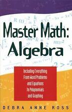 Master Math : Algebra by Debra Anne Ross (1996, Paperback)