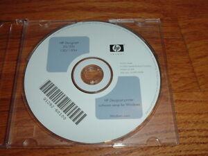 Original Start up disk for HP DesignJet 30,130 Plotters. Windows Drivers Manuals