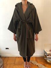 Kenzo Coat Green Khaki Hooded Robe Kimono Vintage