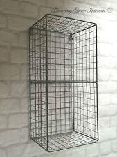 Vintage Industrial Style Metal Wall Shelf Unit Rack Storage Cupboard Cabinet NEW