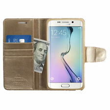 Synthetic Leather Card Pocket Wallet Cases for Samsung Mobile Phones