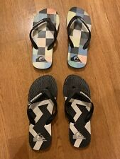 Lot 2 Pairs Boys Thong Sandal Rubber Flip Flop Quicksilver Size 4-5 Youth