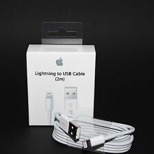 100% Original Apple iPhone Lightning 2m USB Ladekabel MD819ZM/A 5 6 7 8 X iPad