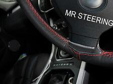 Para Fiat Stilo verdadero mejor volante cubierta de cuero rojo doble costura 01-08