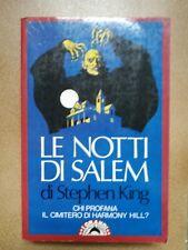 LE NOTTI DI SALEM  di STEPHEN KING prima edizione BOMPIANI 1987