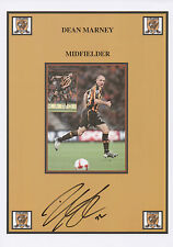 DEAN MARNEY Signed 12x8 Print HULL CITY AFC The Tigers COA