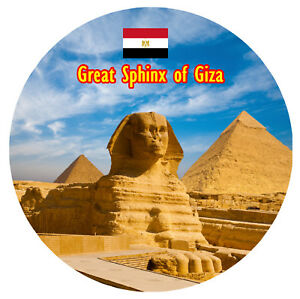 GREAT SPHINX OF GIZA, EGYPT - SOUVENIR NOVELTY FRIDGE MAGNET - SIGHTS / GIFTS