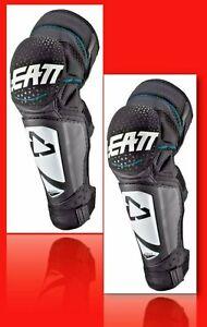 LEATT Pair Knee & Shin Guard 3DF Hybrid Ext White / Black - #L/XL: 5019400741