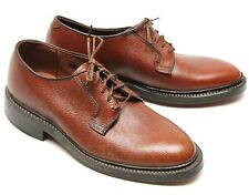 NWOB Hanover Hommes Robe Chaussures 6.5 D/B Marron Pebble Grain Uni Orteil