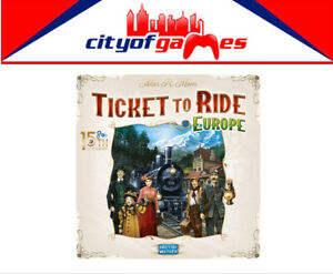 Ticket to Ride Europe 15th Anniversary Board Game Brand New Pre Order