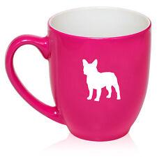 16oz Bistro Mug Ceramic Coffee Tea Glass Cup French Bulldog