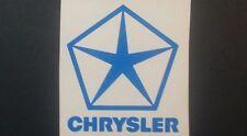 Chrysler Pentastar & Chrysler sml hollow sticker for Chrysler, Dodge, Valiant.