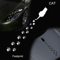 Dibujos animados pegatinas coche huellas de gato Etiqueta de vinilo de Windows
