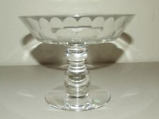 """Tiffany Heavy Clear Glass Crystal Bowl with Etched Signature """"Val Saint Lambert"""""""