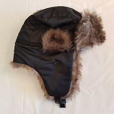 NEW Primark Winter Trapper Earflap Hat Men Women Black - SF28