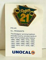 Pin #6 National League Pennants Tie Lapel Pin Unocal 76