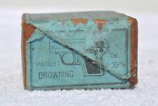 1930s Belgium BROWNING 6.35 mm Pistol Empty Ammo Cartridge Shell Box RARITY!