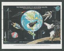 MICRONESIA # 81 MNH INTERNATIONAL SPACE ACHIEVEMENTS  Miniature Sheet