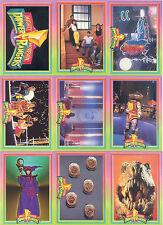 POWER RANGERS SERIES 1 WALMART 1994 BASE CARD & INSERT SET OF 72 & 12 CH