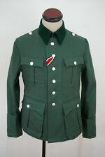 WWII German M36 officer summer HBT reed green field tunic L