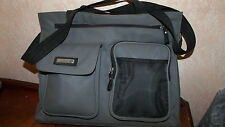 """Kathy Ireland Computer bag/carry case,Universal, gray, up to 16"""" Nylon 5 pouches"""