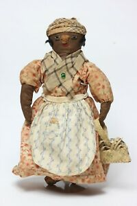 Antique Black Americana Cloth Doll, Original