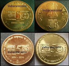 India Indien Inde 2014 BHEL Engineering Power Oil Gas 3 Coin SET 5 Rs Unc NEW