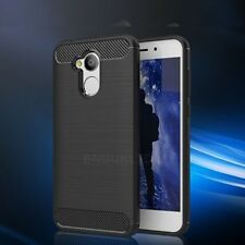For Huawei Honor 6A Carbon Fibre Gel Case Cover Brushed Shockproof Hybrid