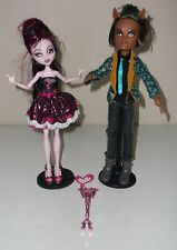 Monster High Sweet 1600 1st Wave - Draculaura & Clawd Wolf - EUC!!