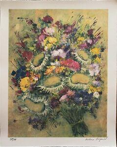 Luciano PASQUINI   litografia a colori Vaso di Fiori  50x40 firmata numerata