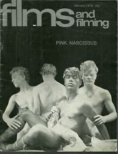 RARE - FILMS AND FILMING Magazine - February 1973 - Pink Narcissus - Diana Dors