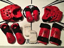 10 pc Youth S Macho/Tiger Rock Sparring Gear Set Martial Arts Taekwondo Karate