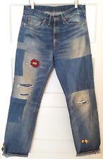 LVC XX Big E Red Line Levi's Vintage Clothing 1954 501Z Patched Sz 32x32