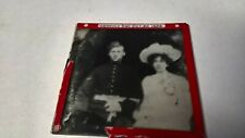vintage glass magic lantern slide military nco wedding 1904
