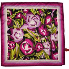 MISSONI x Target 100% Silk Scarf, Purple Passione, Modernist Floral Flower Print
