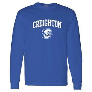 Creighton Bluejays Arch Logo Long Sleeve T Shirt - Royal