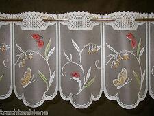 Scheibengardine Marienkäfer Blumen Schmetterlinge Bistro 6 Breiten, 29,5 cm hoch
