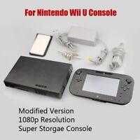 32GB System Console Lot Bundle For Nintendo Wii U - Deluxe Black 1080p US Plug