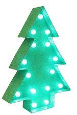 POLO NORD Express Delivery VERDE glitter illuminare LED Decorazione albero di Natale