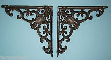 "(2) CHRISTMAS GIFT FOR HIM, DIY SHELVING, CAST IRON SHELF BRACKETS, 8"", B-29"