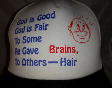 Novelty Funny Ball Cap for the Bald and Balding