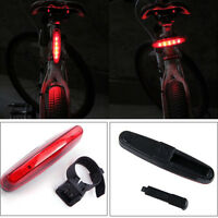 5 LED Cycling Night Super Bright Red Rear Tail Light Bike Bicycle 4 Modes Lamp