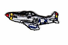 P-51 airplane small iron on patch