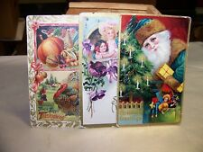 Antique Christmas Postcard Santa St. Nicholas Green Robe Toys   Germany