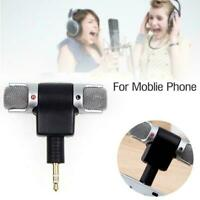Black 3.5mm Jack Recorder Stereo Voice Microphone Mic for Laptop PC Cell Phone