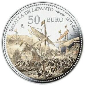 Spanien - 50 Euro 2021 - Schlacht von Lepanto - 450. Jubiläum - 5 Oz Silber PP