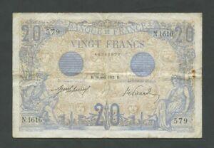 FRANCE  20 francs  1912  Krause 68b  Banknotes