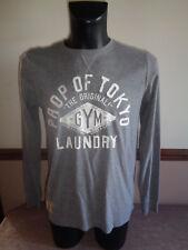 """Tokyo Laundry Para hombre de manga larga T-SHIRT camiseta Jersey Casual Top """"Gimnasio"""" BMWT"""
